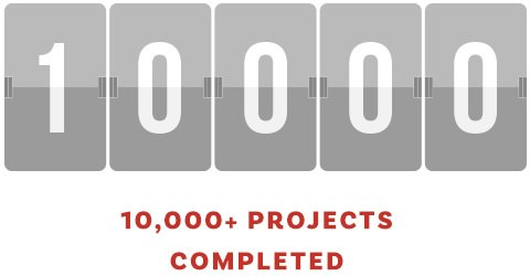 10000 Projects Completed